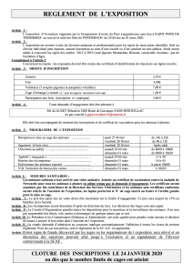 Papiers inscription St PONS 2020 - 2