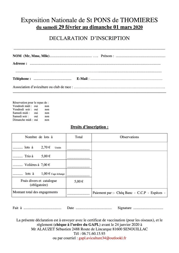 Papiers inscription St PONS 2020 - 4